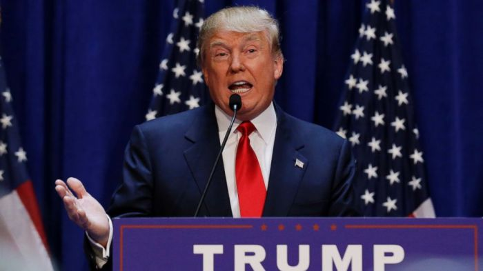 Donald Trump, the man featured in terrorist recruitment videos, says he will stop terrorism
